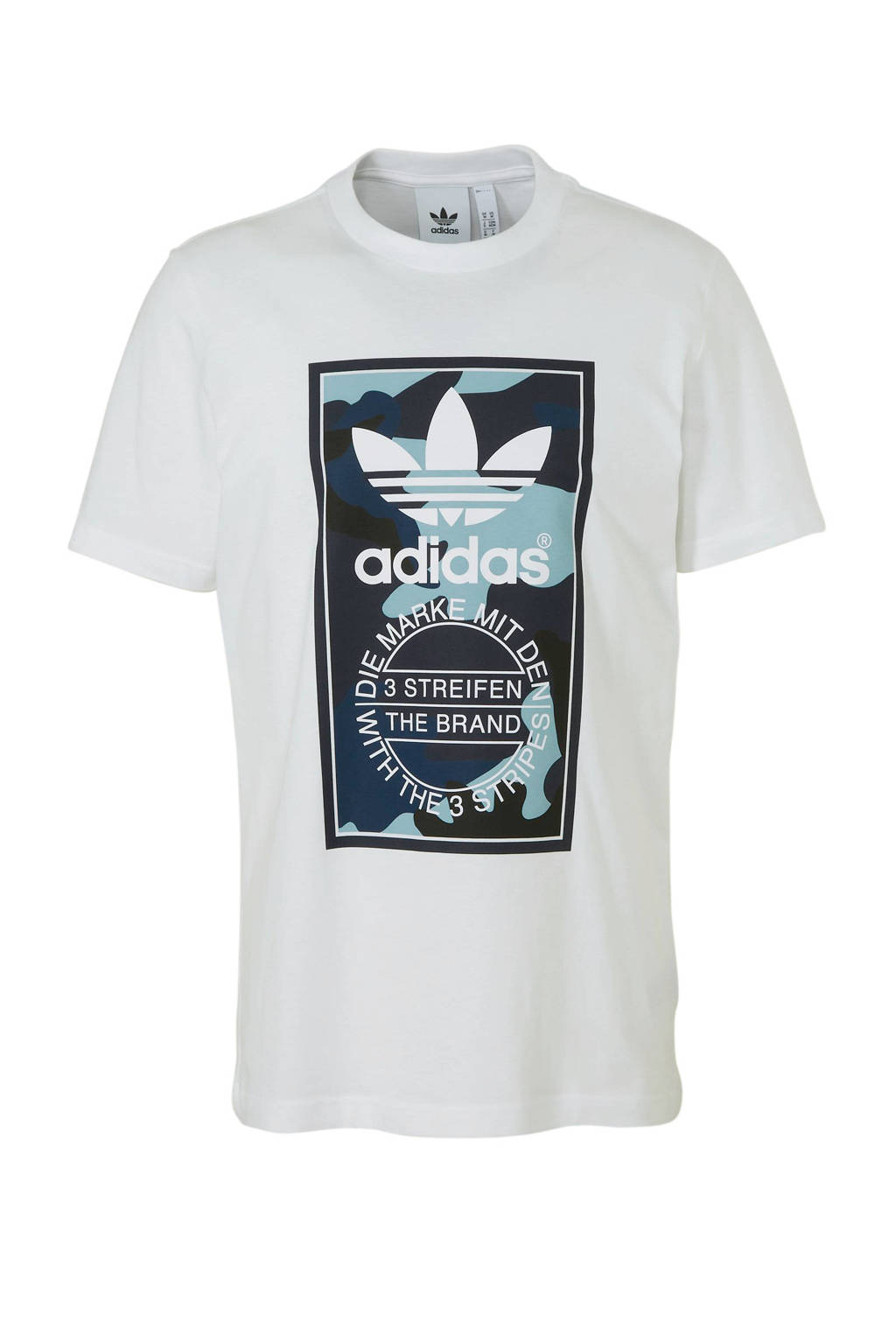 adidas originals   T-shirt wit, Wit