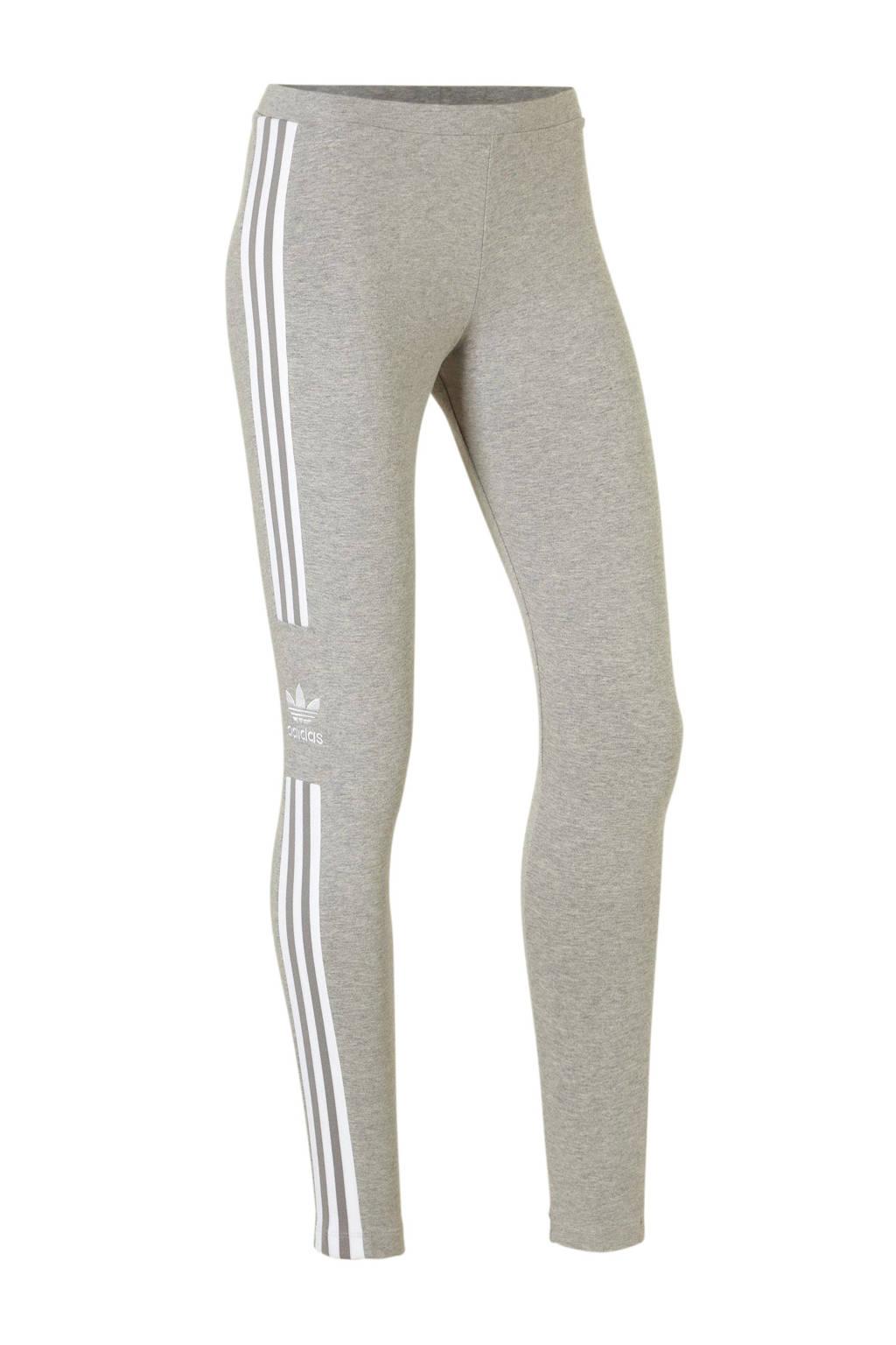 adidas originals 7/8 legging grijs melange, Grijs melange/wit