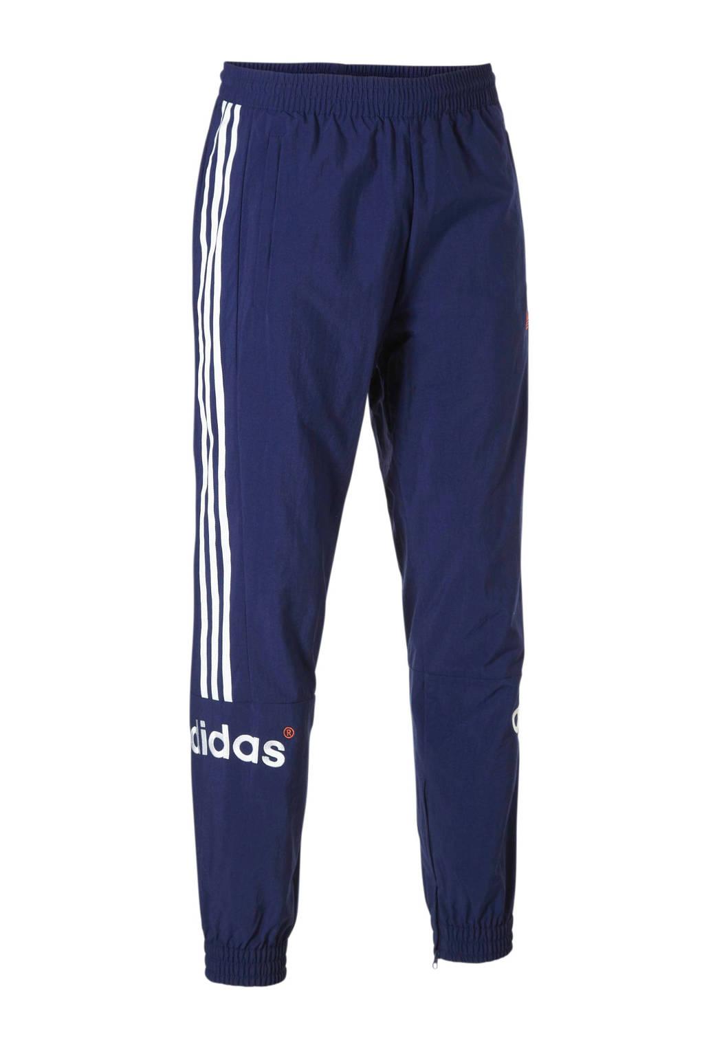 adidas originals trainingsbroek donkerblauw, Donkerblauw/wit