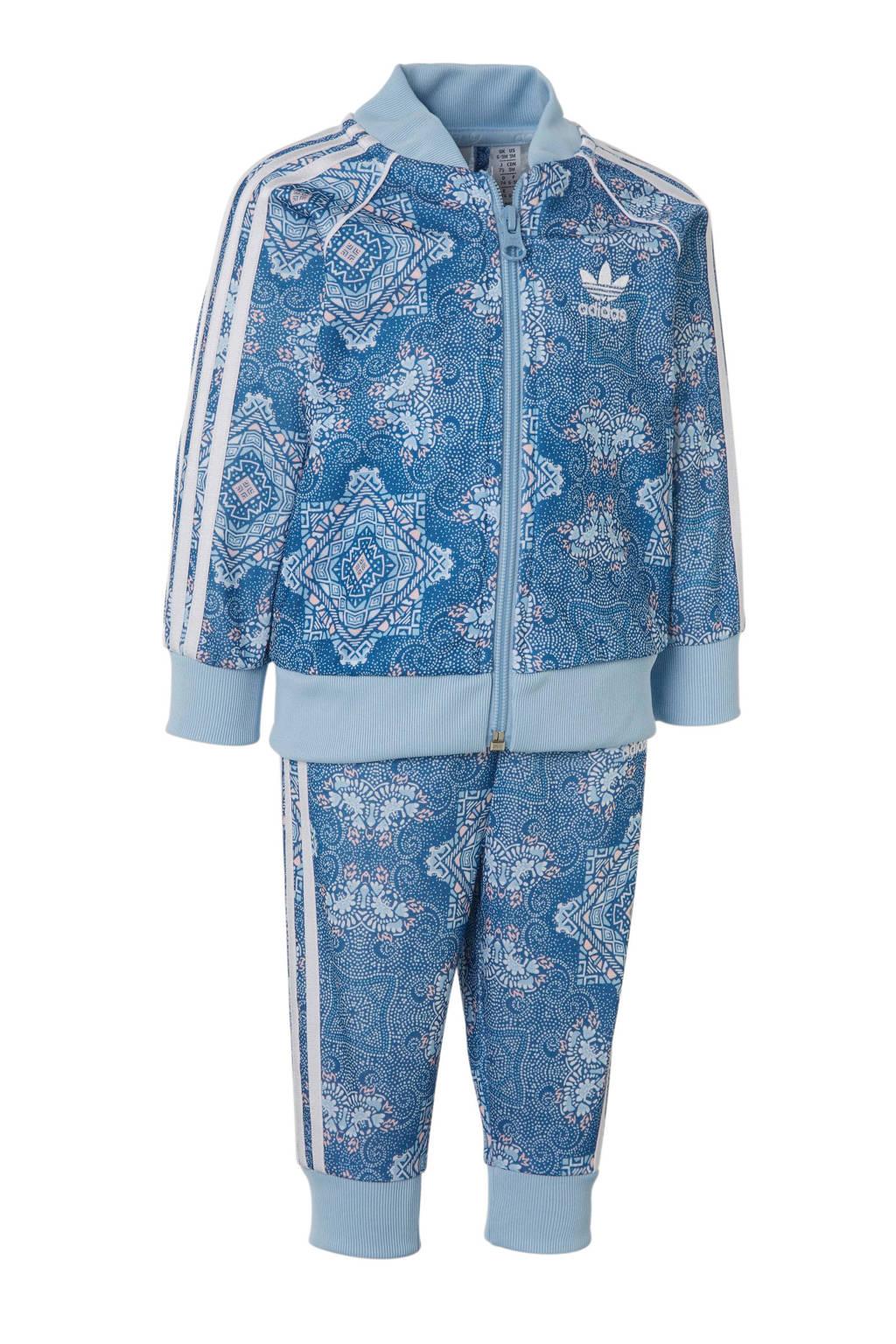 adidas originals joggingpak, Blauw/wit