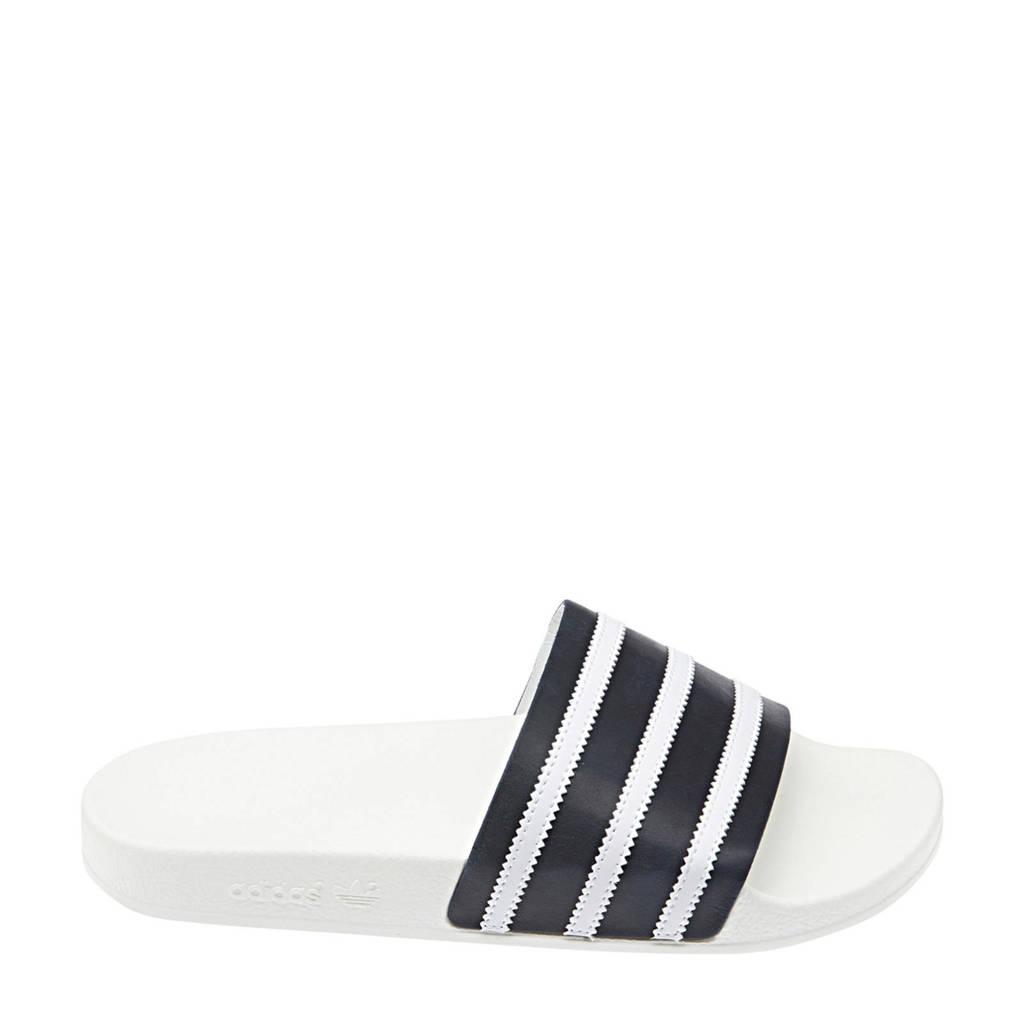 b6698b81781 adidas originals Adilette badslippers, Donkerblauw/wit