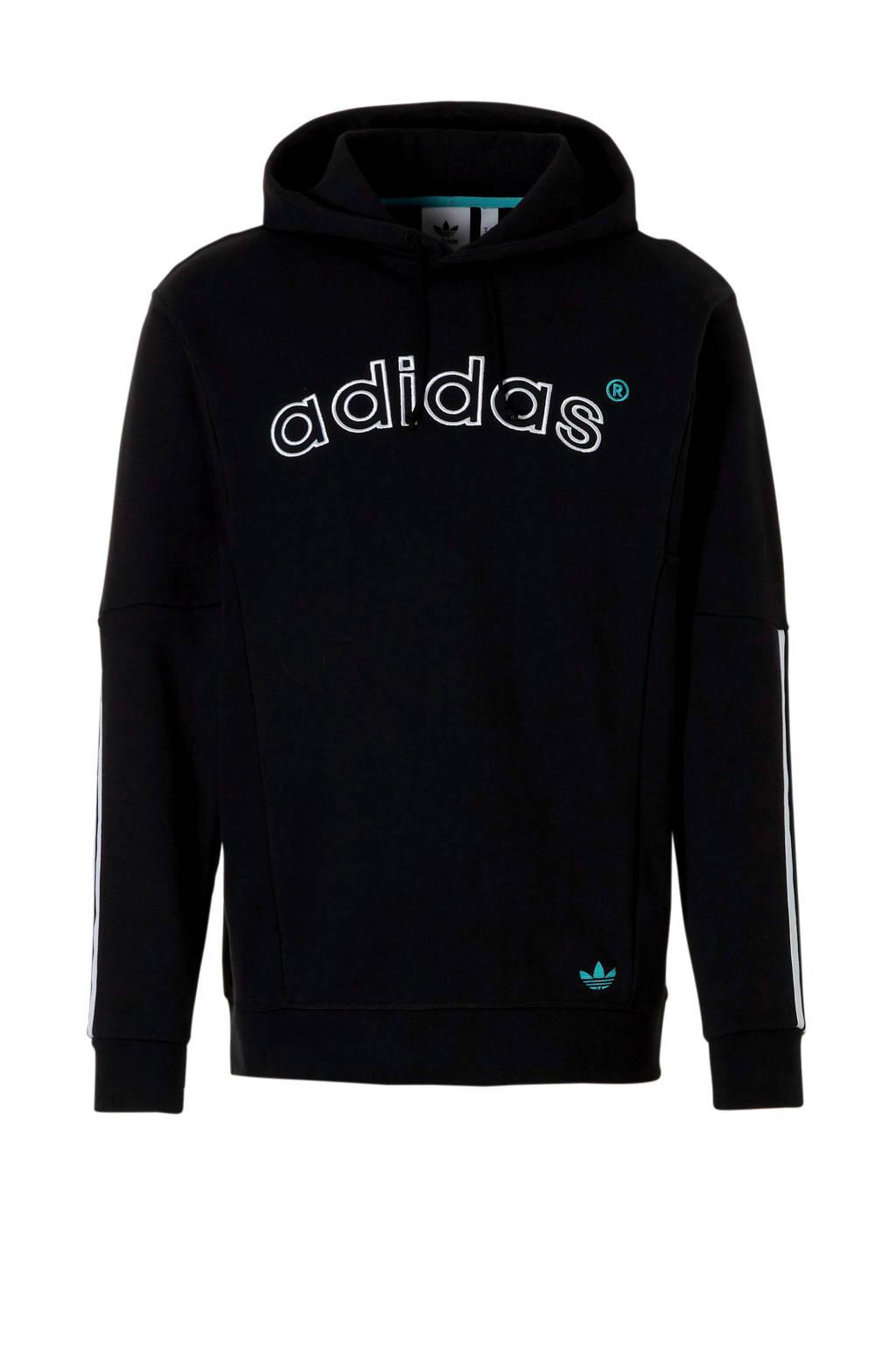 adidas originals hoody zwart/wit, Zwart/wit