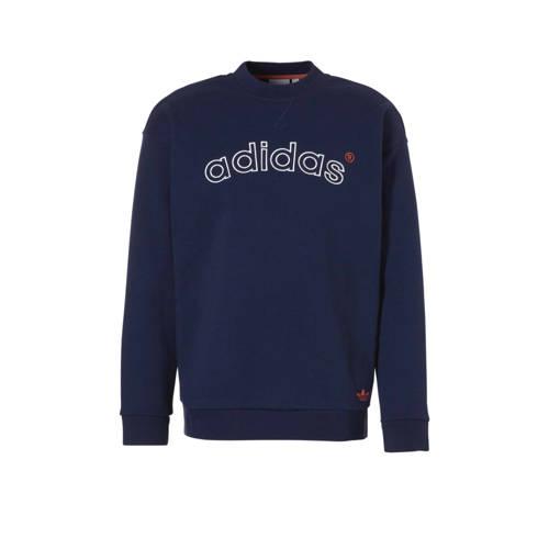 adidas originals sweater donkerblauw