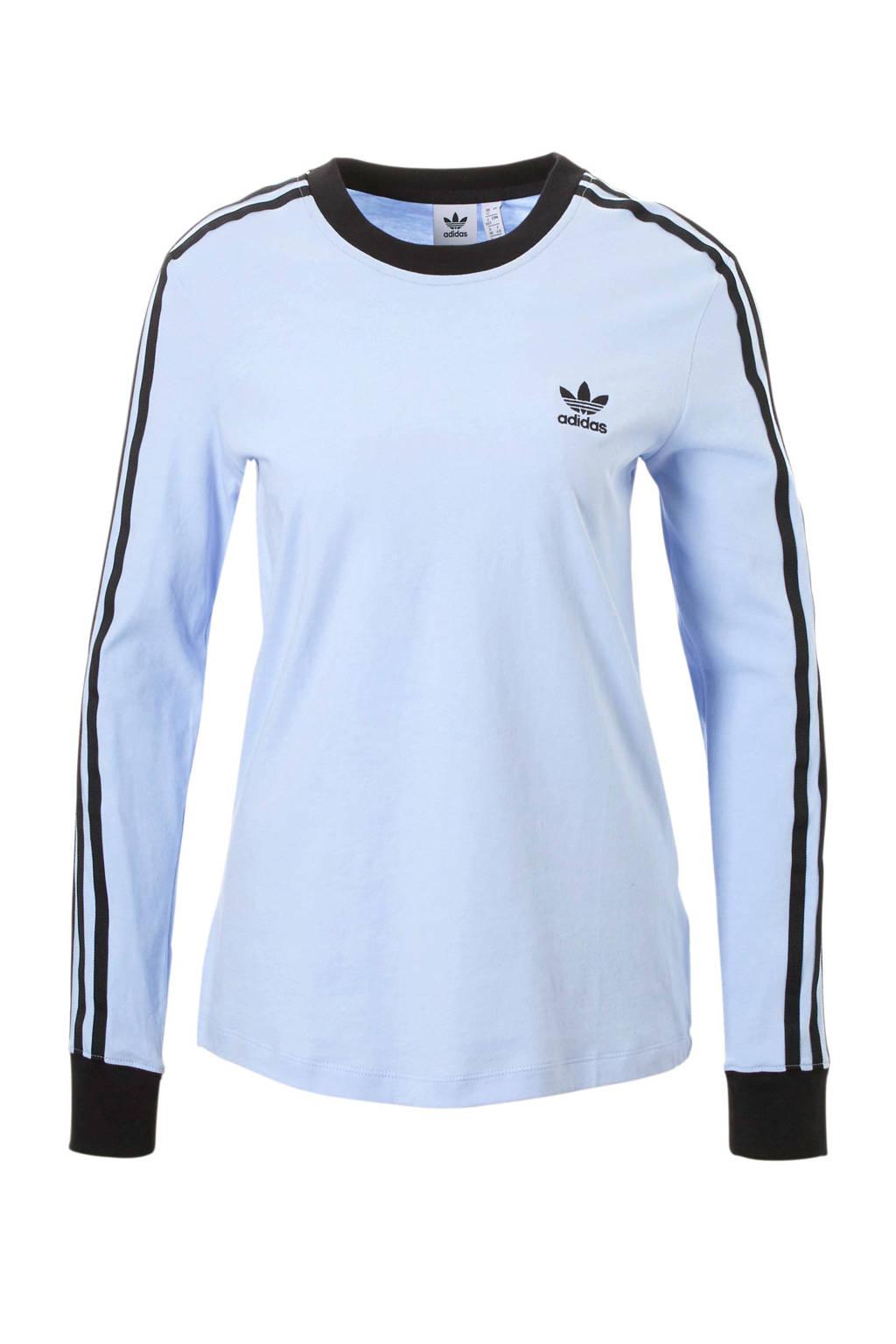 adidas originals T-shirt lichtblauw, Lichtblauw/zwart