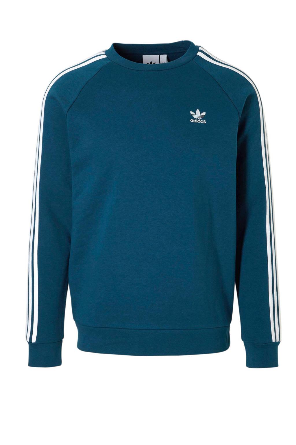 adidas originals   sweater petrol, Petrol/wit