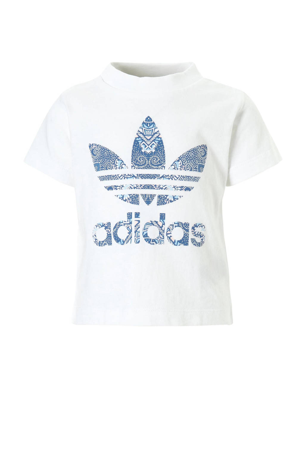adidas originals T-shirt, Wit/blauw