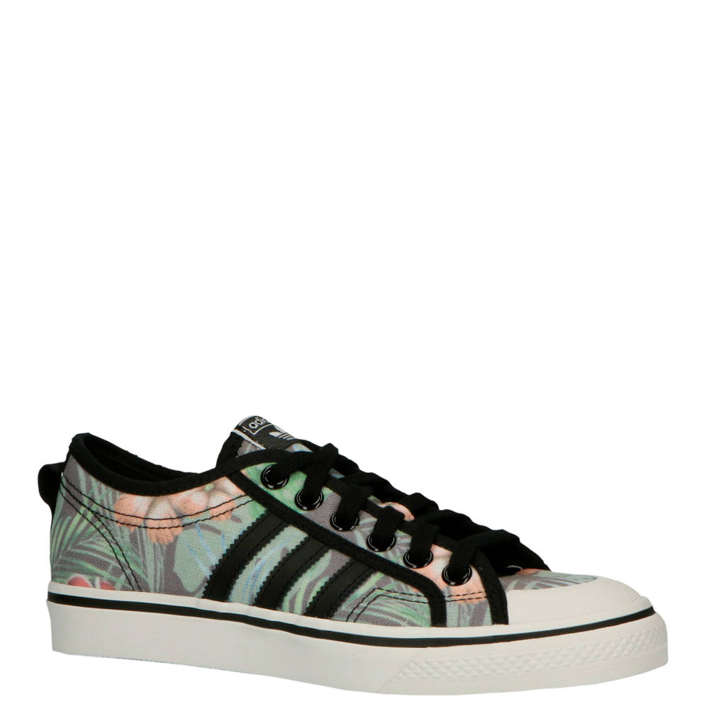 adidas originals NIZZA W sneakers bloemenprint, Zwart