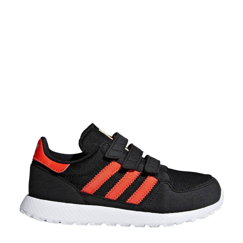 9055c12e308 adidas originals Forest Grove CF C suède sneakers zwart, Zwart/rood