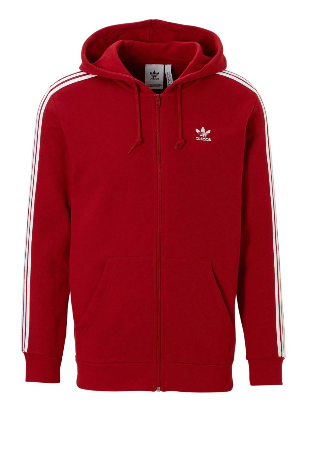 bdfec2b4419 adidas originals vest rood, Rood/wit
