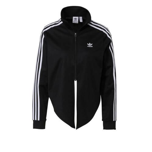 adidas originals cropped vest zwart-wit