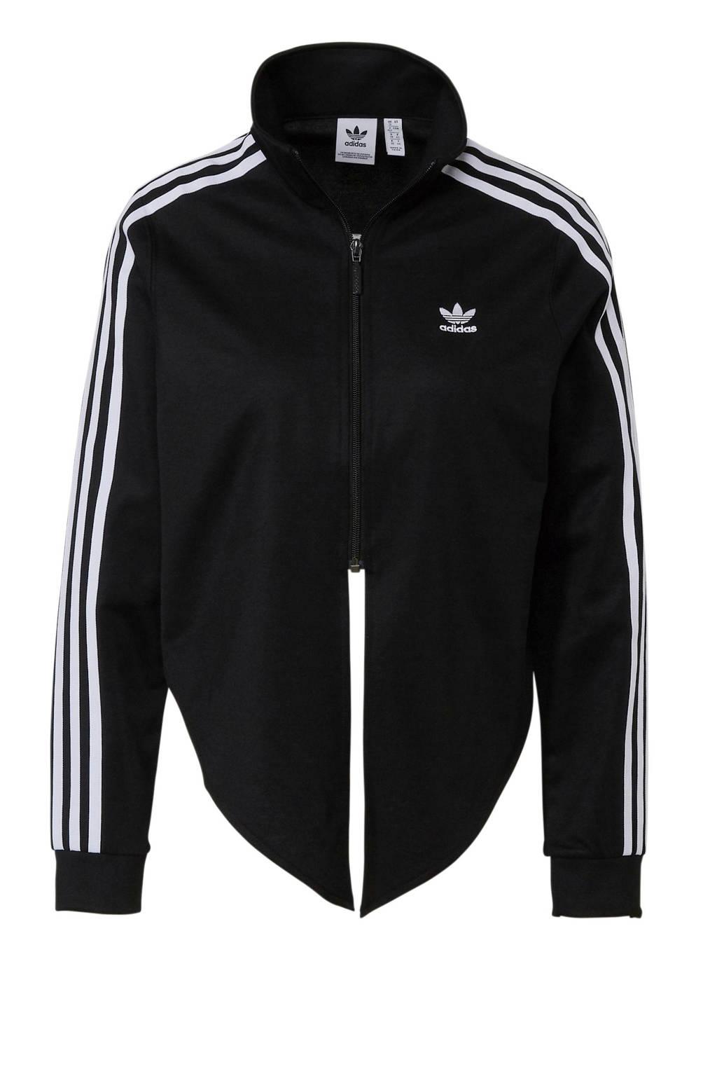 adidas originals cropped vest zwart/wit, Zwart/wit