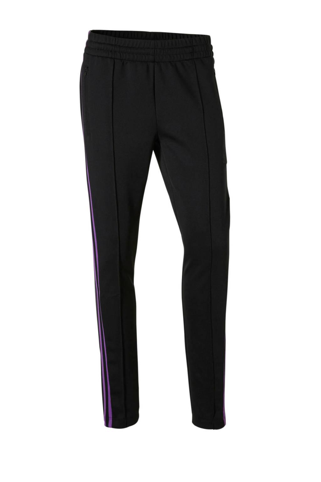 adidas originals sportbroek zwart, Zwart/paars