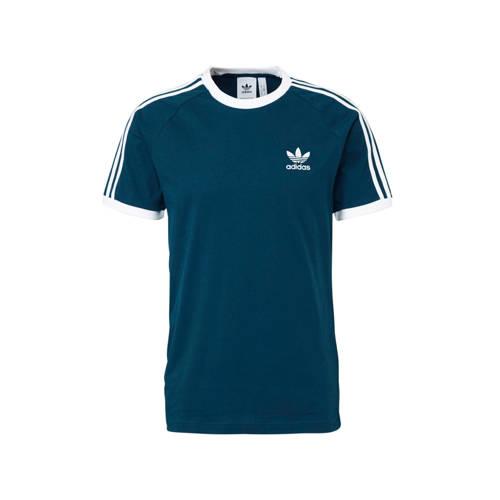 adidas originals originals sport T-shirt blauw-wit