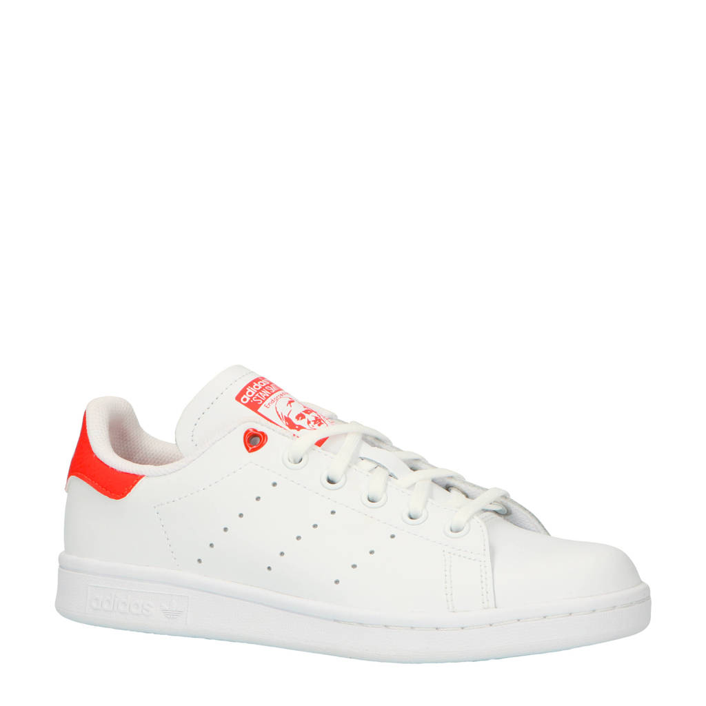 d5325b5a0e5 adidas originals Stan Smith J sneakers wit/rood, Wit/rood