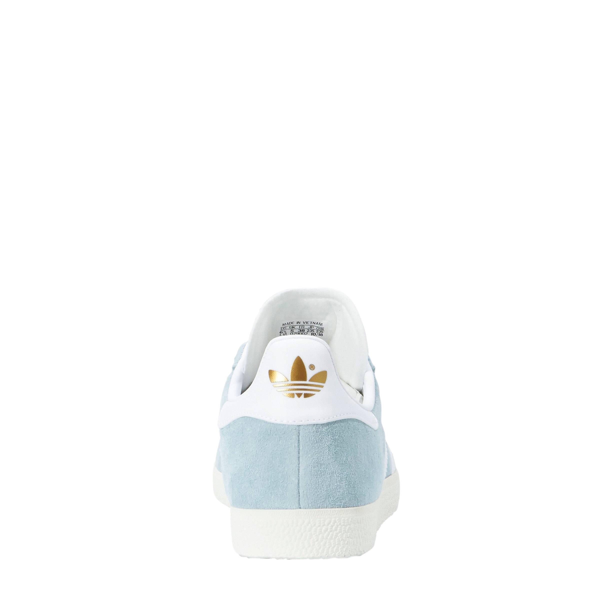 6c4b56e1a20 adidas originals Gazelle sneakers lichtblauw/wit | wehkamp