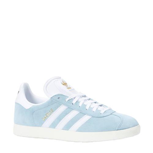 adidas originals Gazelle sneakers lichtblauw-wit