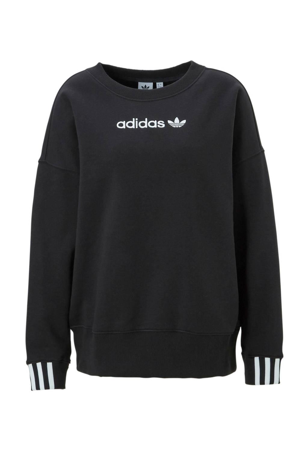 adidas originals sweater zwart, Zwart/wit