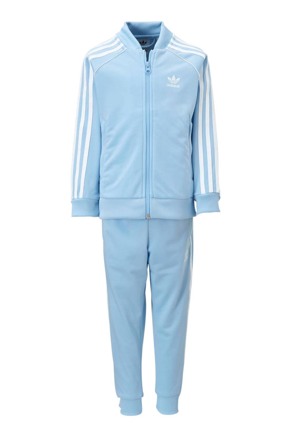 adidas originals   trainingspak lichtblauw, Lichtblauw