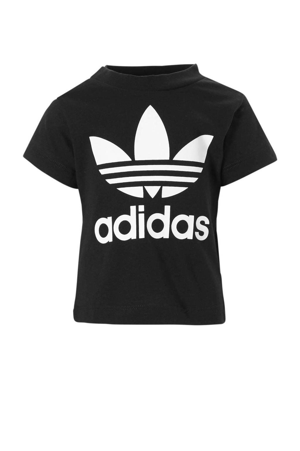 adidas originals Adicolor T-shirt zwart, Zwart/wit