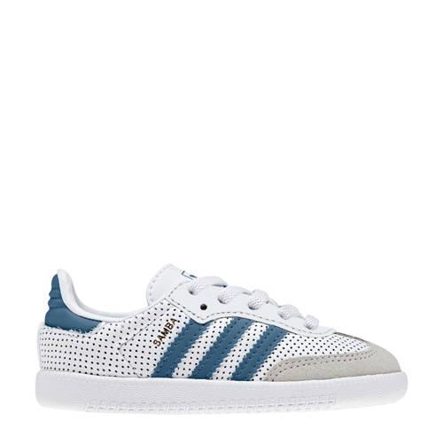 adidas originals Samba OG sneakers wit-blauw