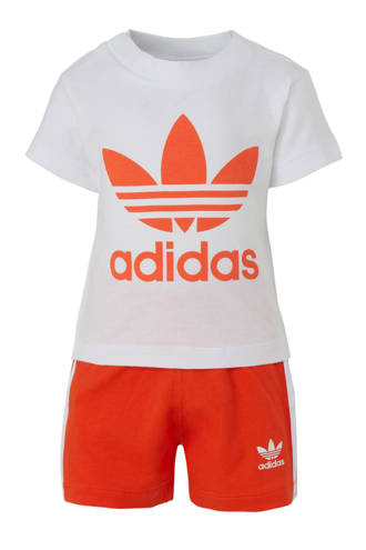 originals T-shirt + short wit/oranje