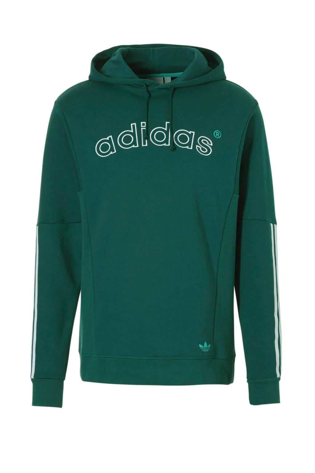 adidas originals   hoody groen, Groen/wit