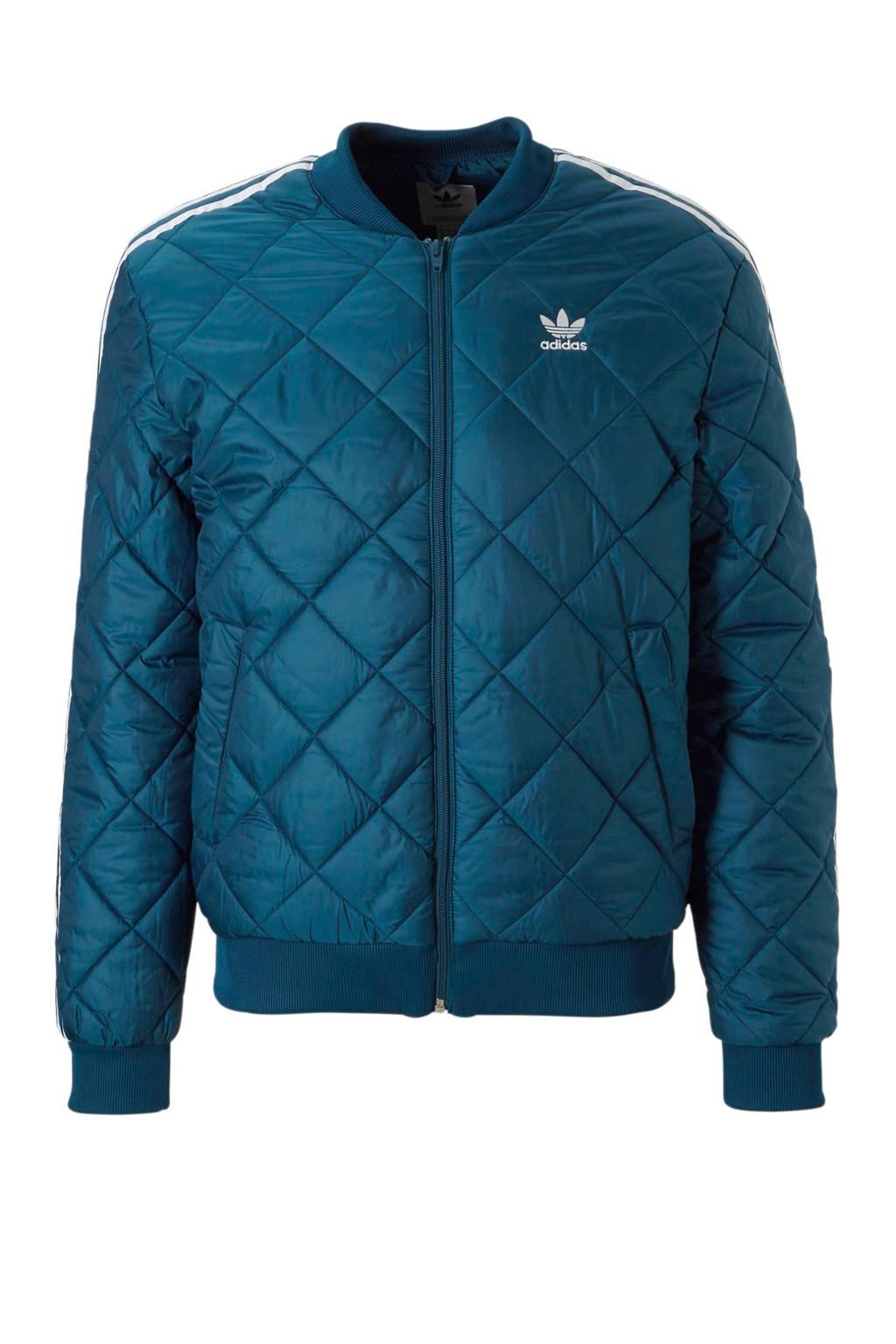adidas originals   jas, Blauw