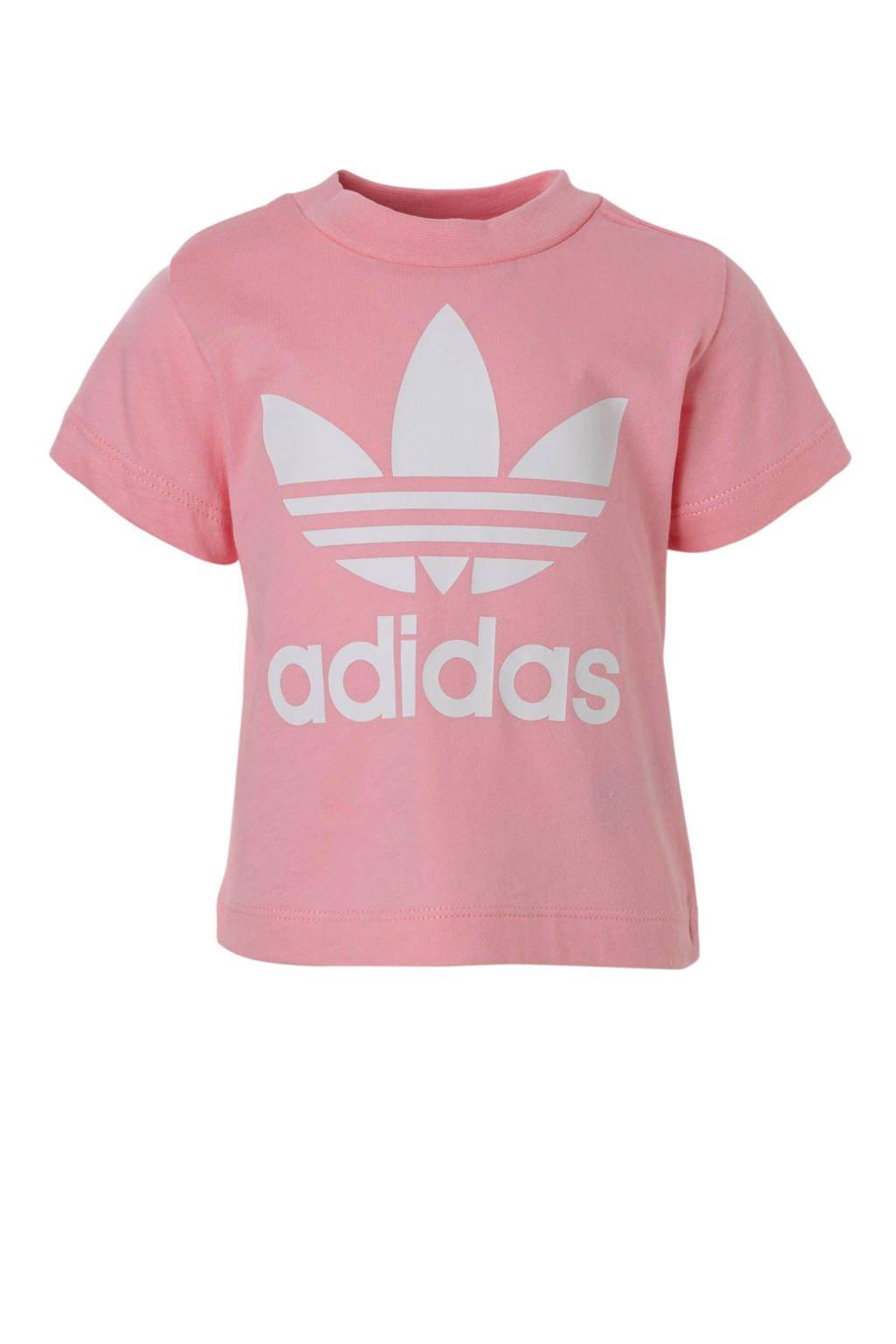 adidas Originals T-shirt roze, Roze/wit
