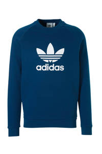 adidas Originals   sweater blauw, Blauw/wit