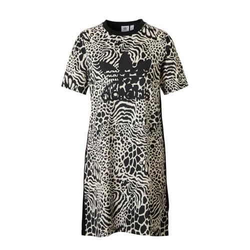 jurk zwart-wit