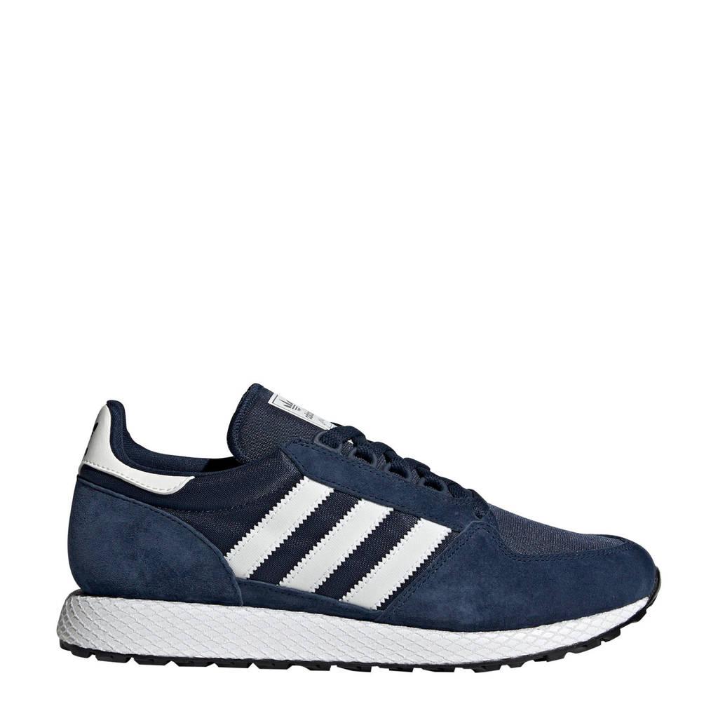 adidas Originals   Forest Grove suède sneakers donkerblauw, Donkerblauw/wit