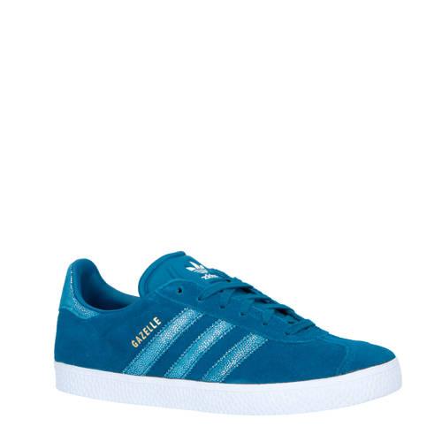 adidas originals Gazelle J suède sneakers blauw