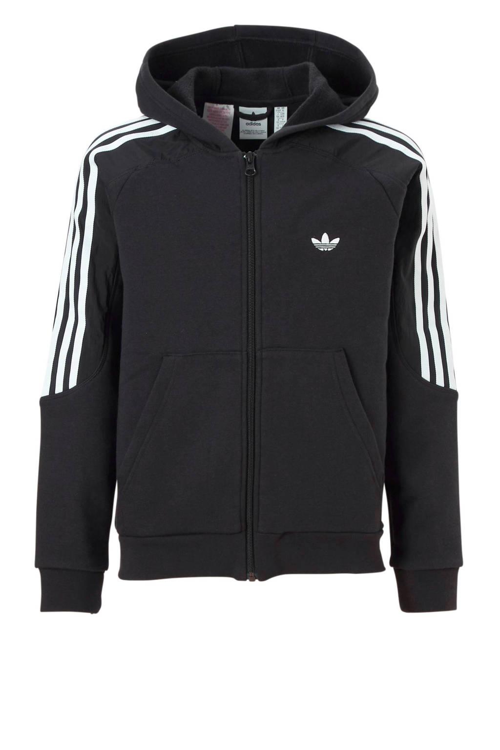adidas originals   sportvest zwart, Zwart/wit