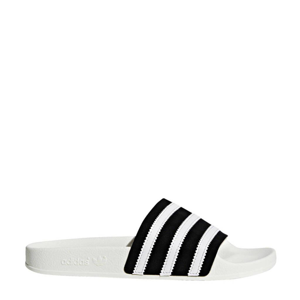 adidas originals Adilette badslippers, Zwart/wit