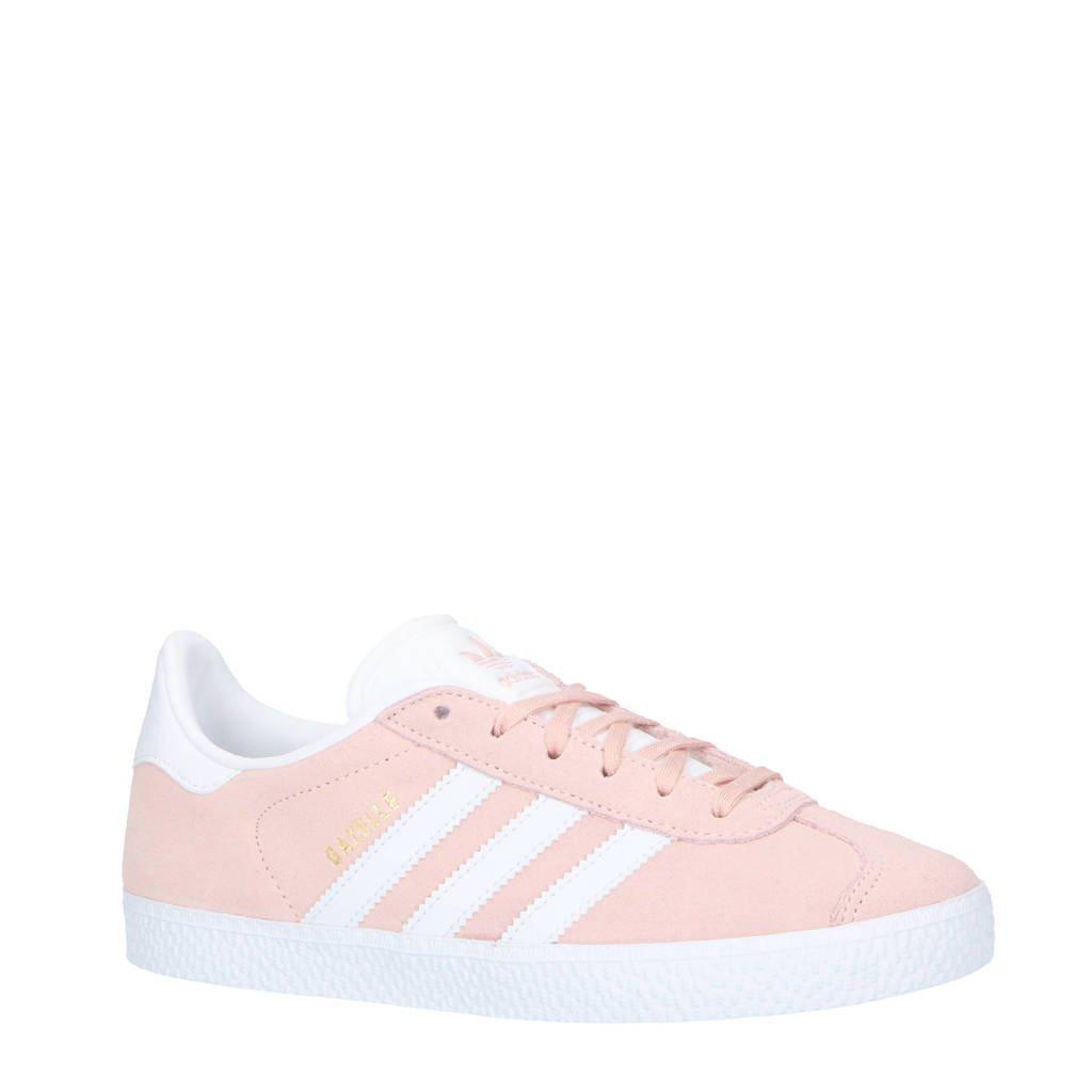adidas originals  Gazelle J suède sneakers lichtroze/wit, Lichtroze/wit