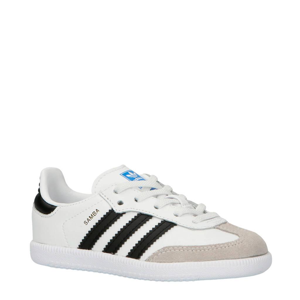 adidas originals  Samba OG EL I kids sneakers, Wit/zwart