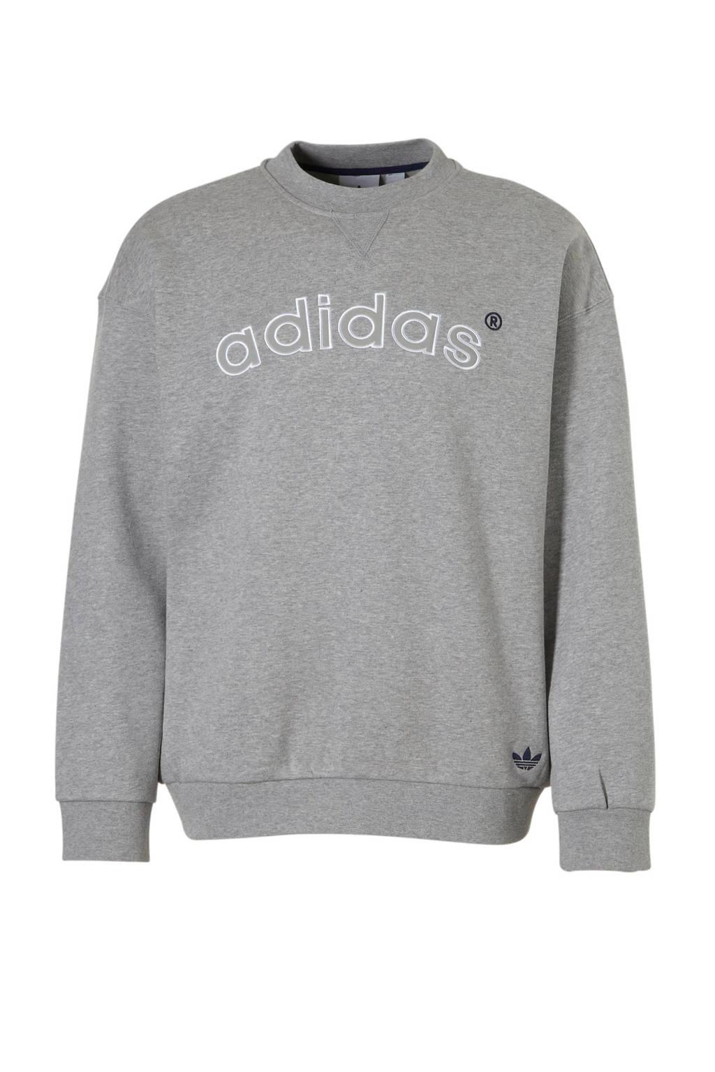 adidas originals   sweater grijs melange, Grijs melange