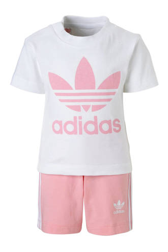 originals shirt + short roze/wit