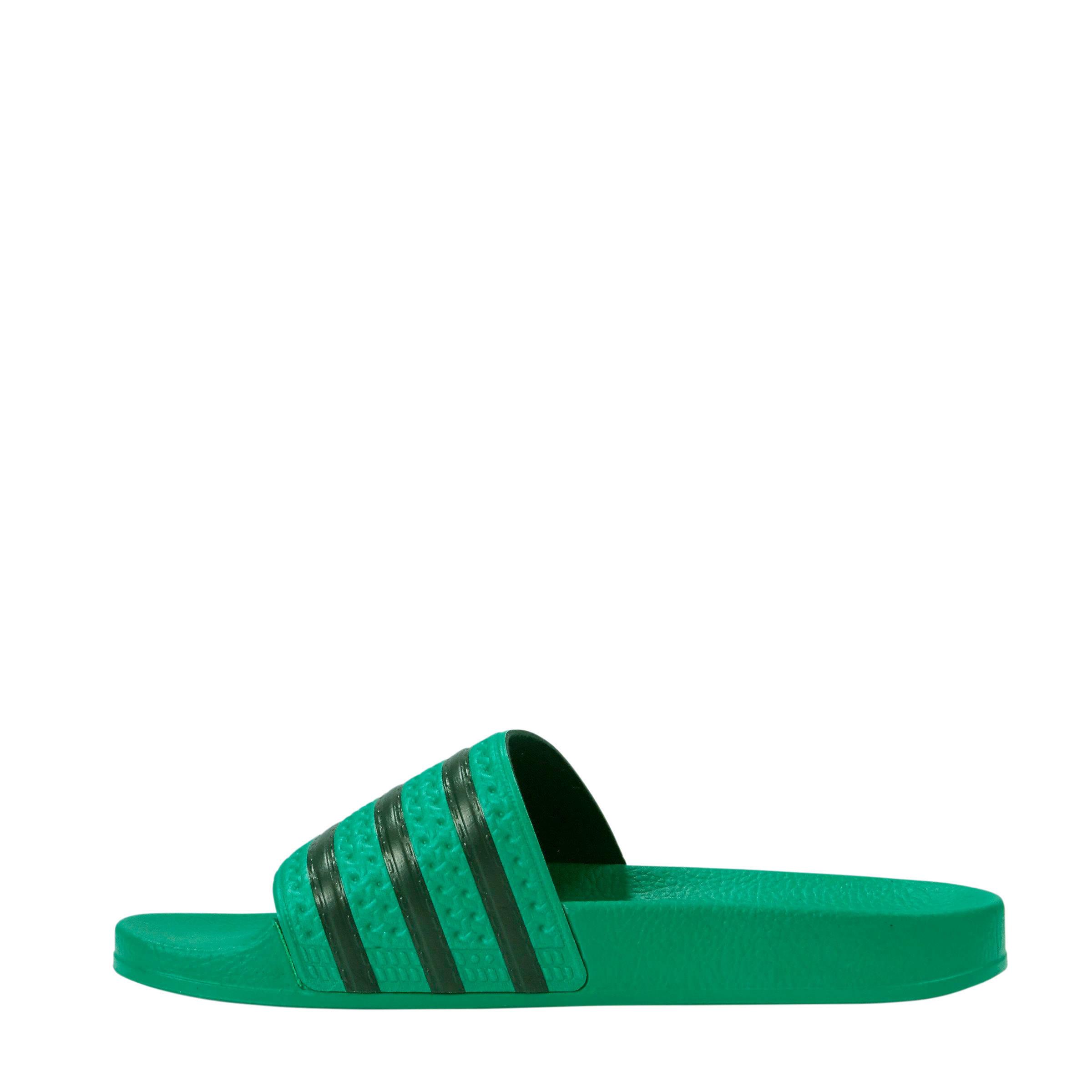 eb9a37bf419 adidas originals Adilette badslippers groen/zwart | wehkamp