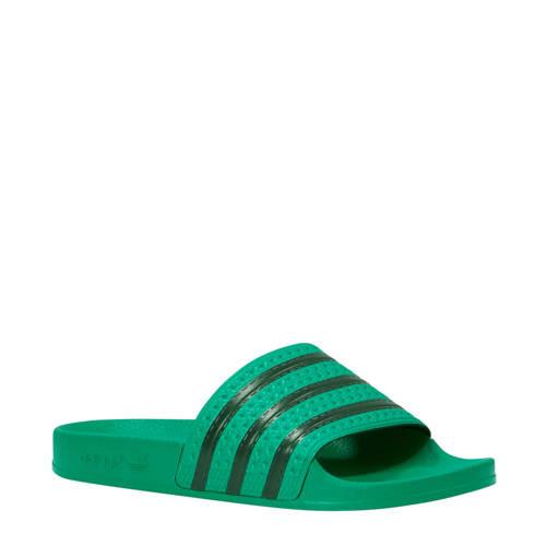 adidas originals Adilette badslippers groen-zwart