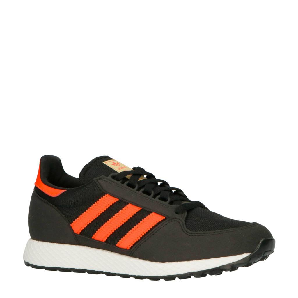 adidas originals  Forest Grove W suède sneakers zwart/rood, Zwart/rood