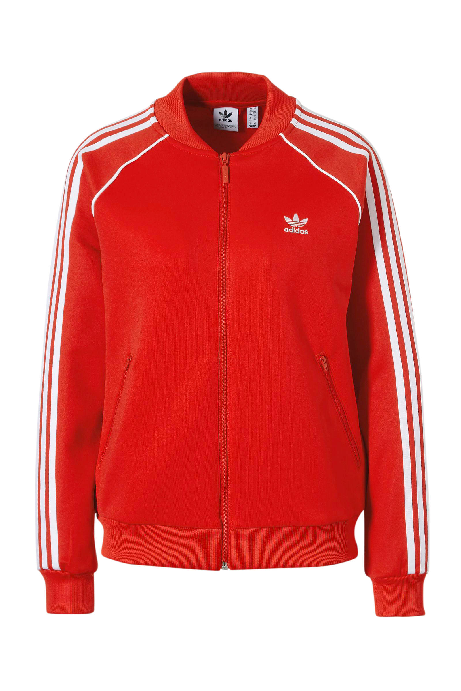adidas trainingsvest rood