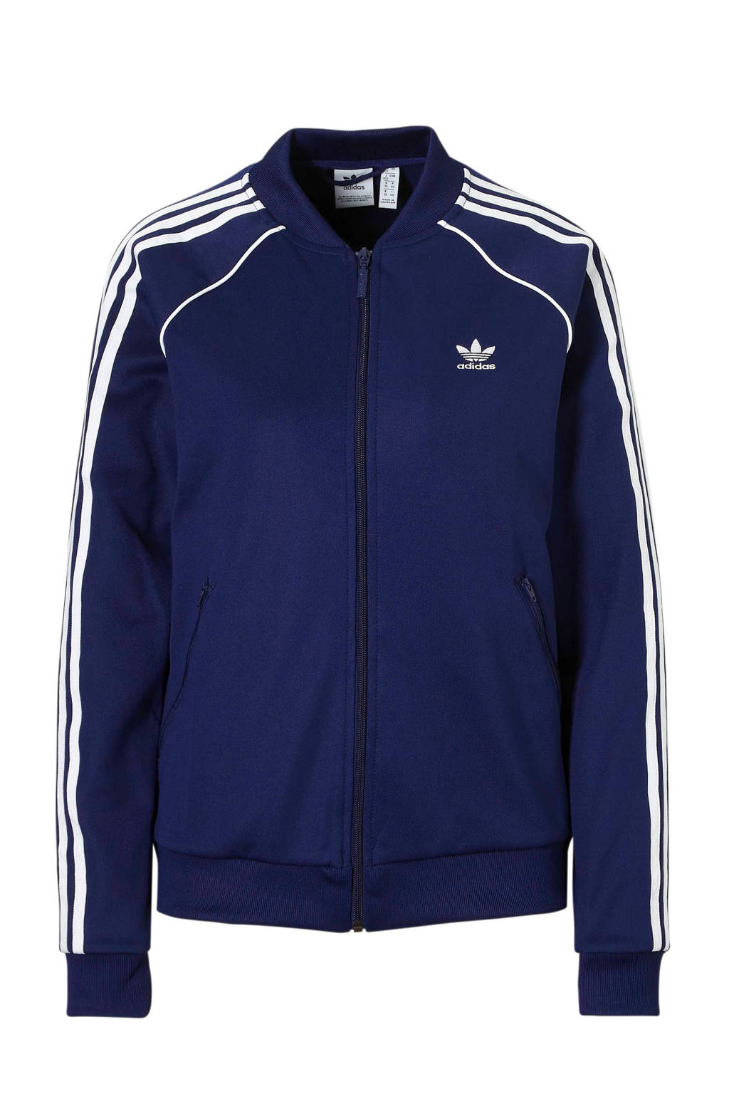 7e3e0d180ca adidas originals vest donkerblauw, Donkerblauw/wit