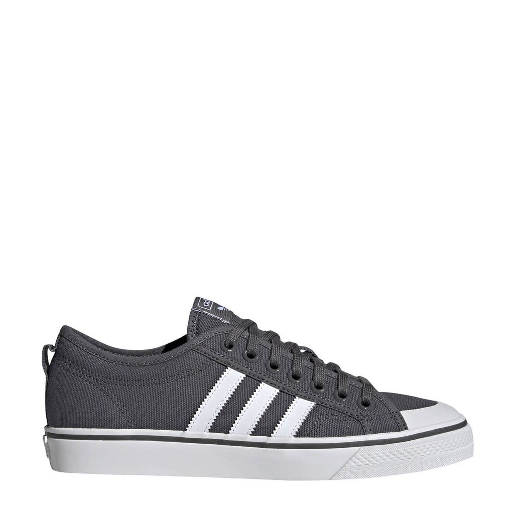 adidas originals  Nizza sneakers antraciet, Antraciet/wit
