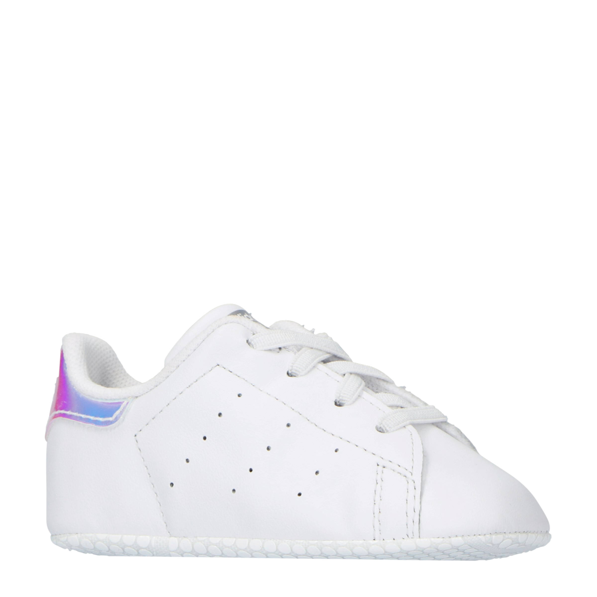 adidas Originals Stan Smith Crib leren sneakers witmetallic