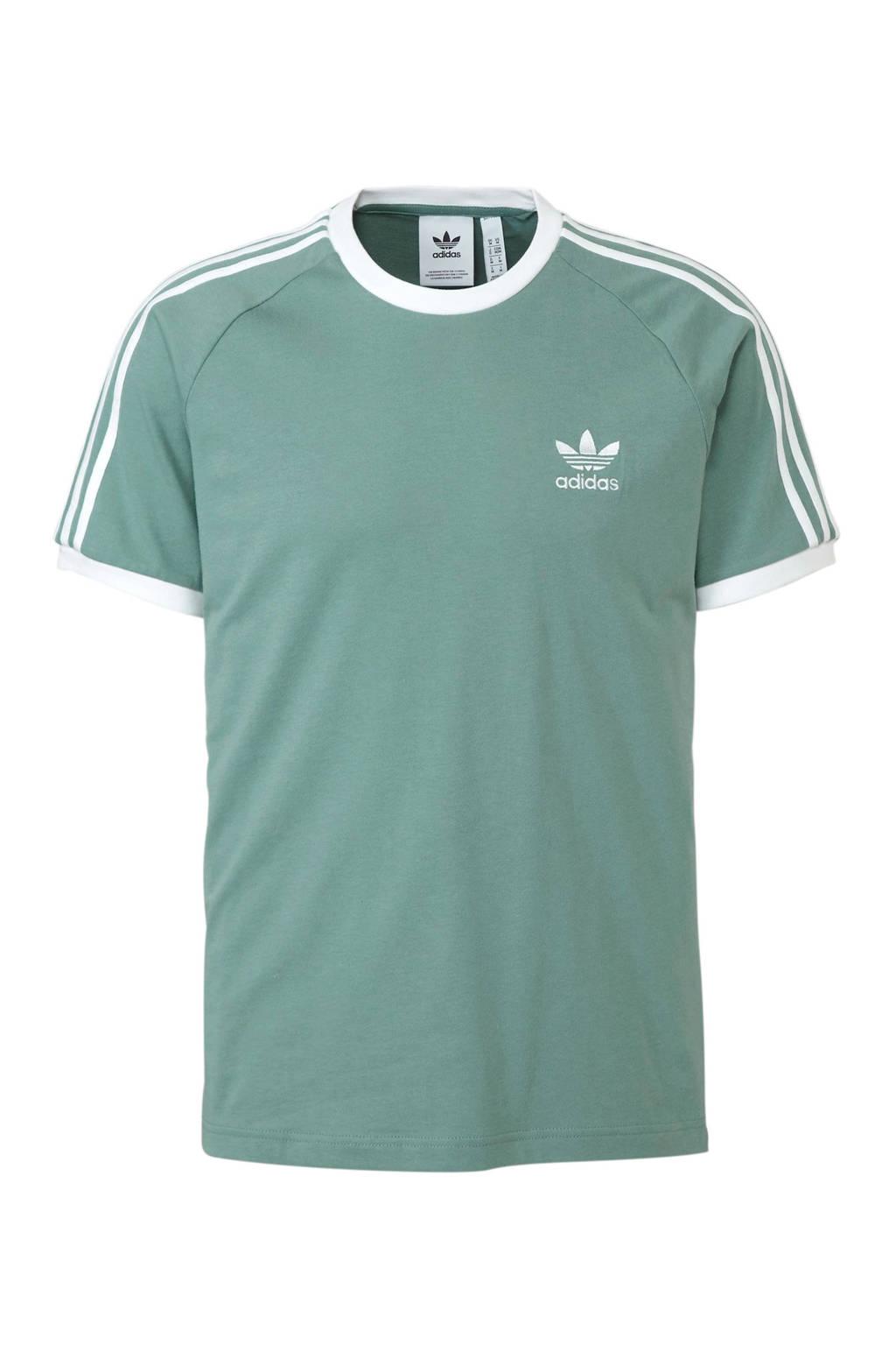 adidas Originals T-shirt groen, Groen/wit