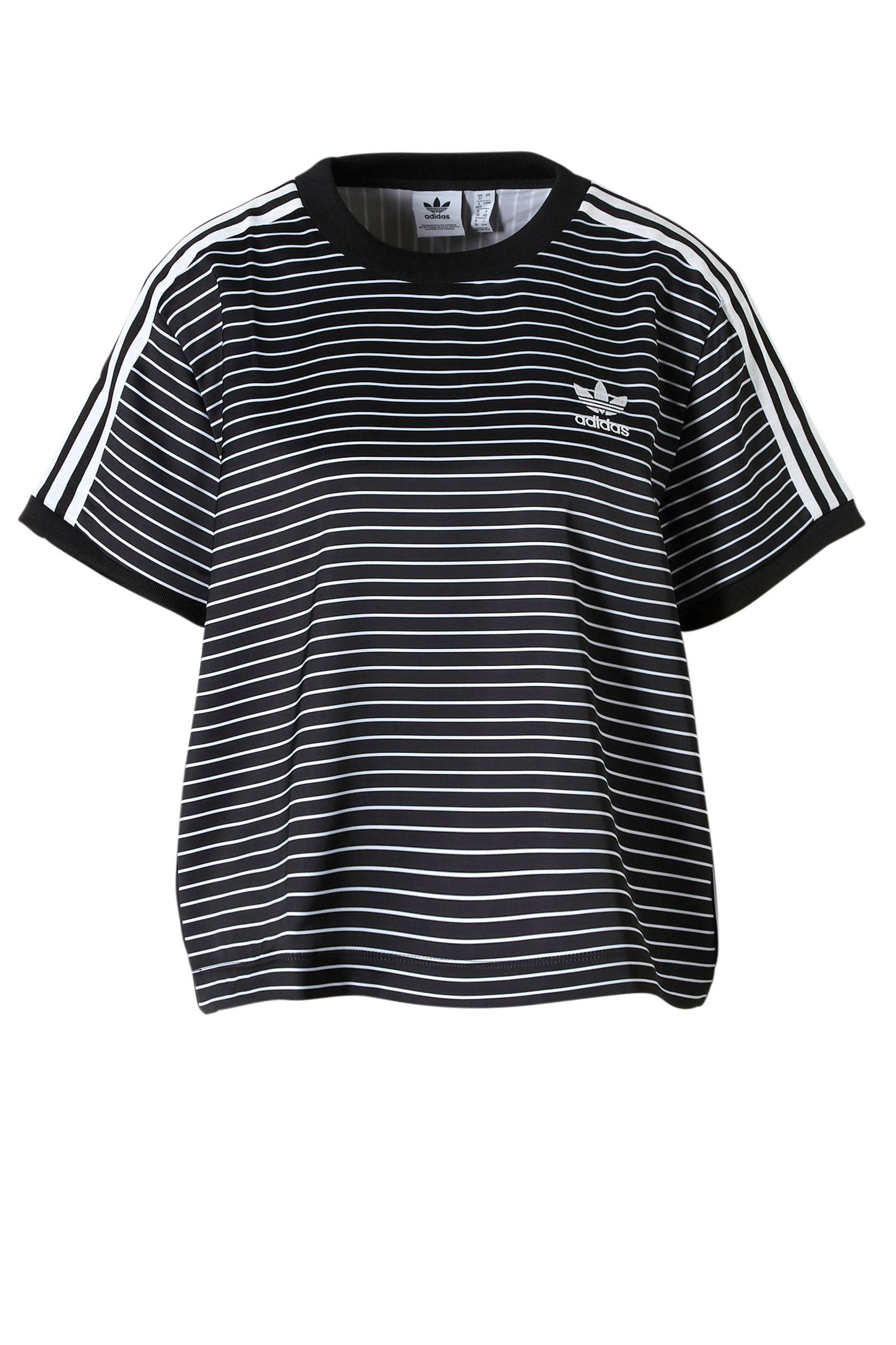 1a6a4c113ca adidas originals originals T-shirt met strepen zwart/wit | wehkamp
