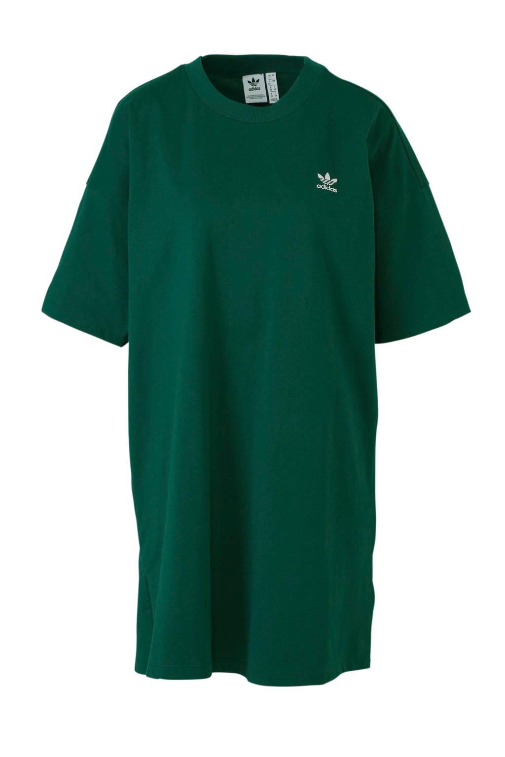 adidas originals jurk, Groen/wit