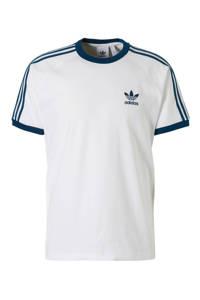 adidas Originals T-shirt wit, Wit/petrol