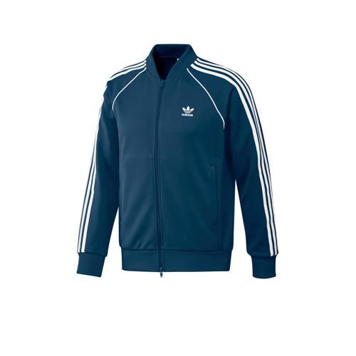 adidas originals vest blauw
